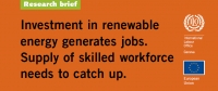 Investment in renewable energy generates jobs. Supply of skilled workforce needs to catch up