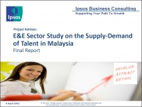 E&E Sector Study on the Supply-Demand of Talent in Malaysia