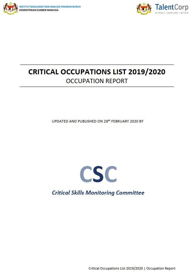Critical Occupations List Report (Occupation Report) 2019/2020