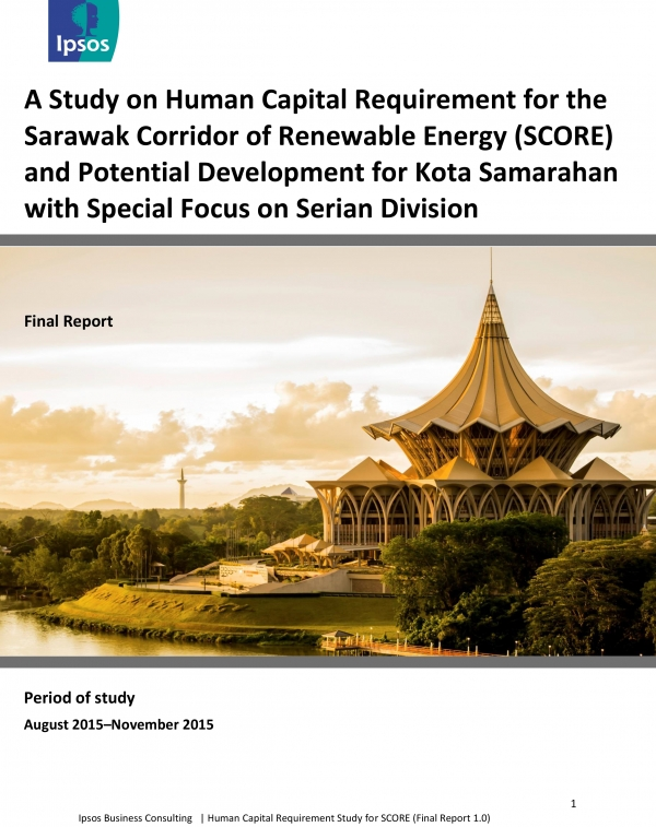 A Study on Human Capital Requirement for the Sarawak Corridor of Renewable Energy (SCORE) and Potential Development for Kota Samarahan with Special Focus on Serian Division