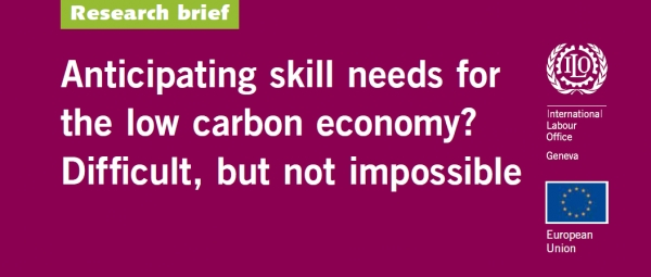 Anticipating skill needs for the low carbon economy? Difficult, but not impossible