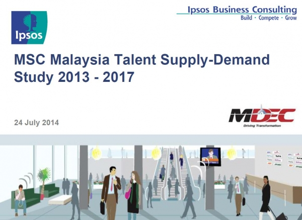MSC Malaysia Talent Supply-Demand Study 2013 - 2017