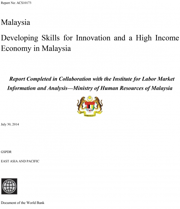 A Study Of Developing Skills for Innovation and a High Income Economy in Malaysia