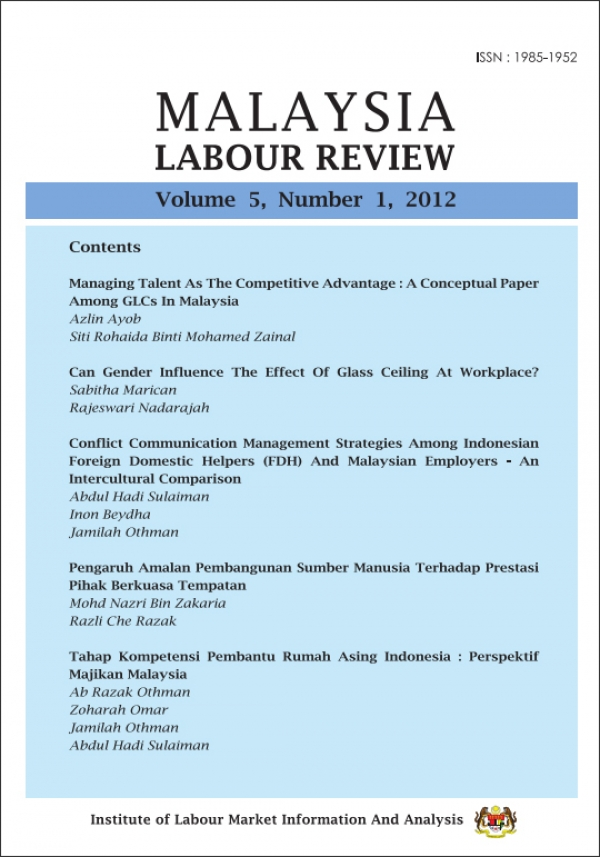 Malaysian Labour Review Volume 5, Number 1, 2012