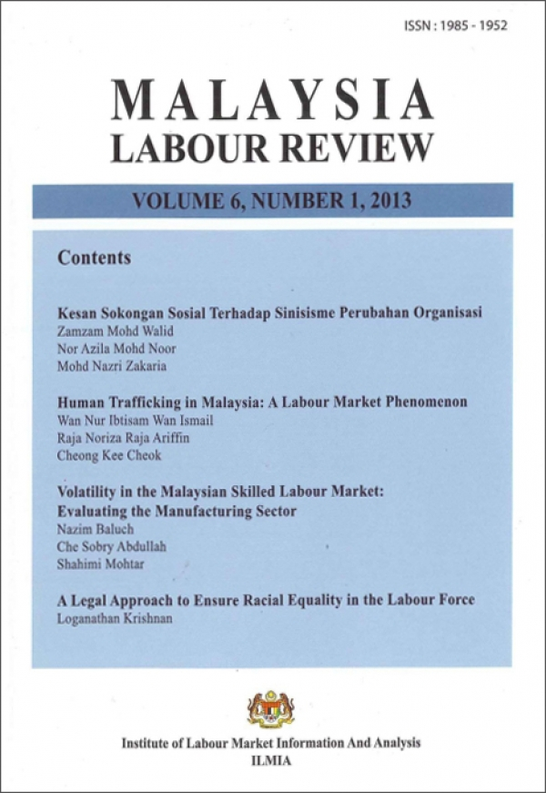 Malaysian Labour Review Volume 6, Number 1, 2013