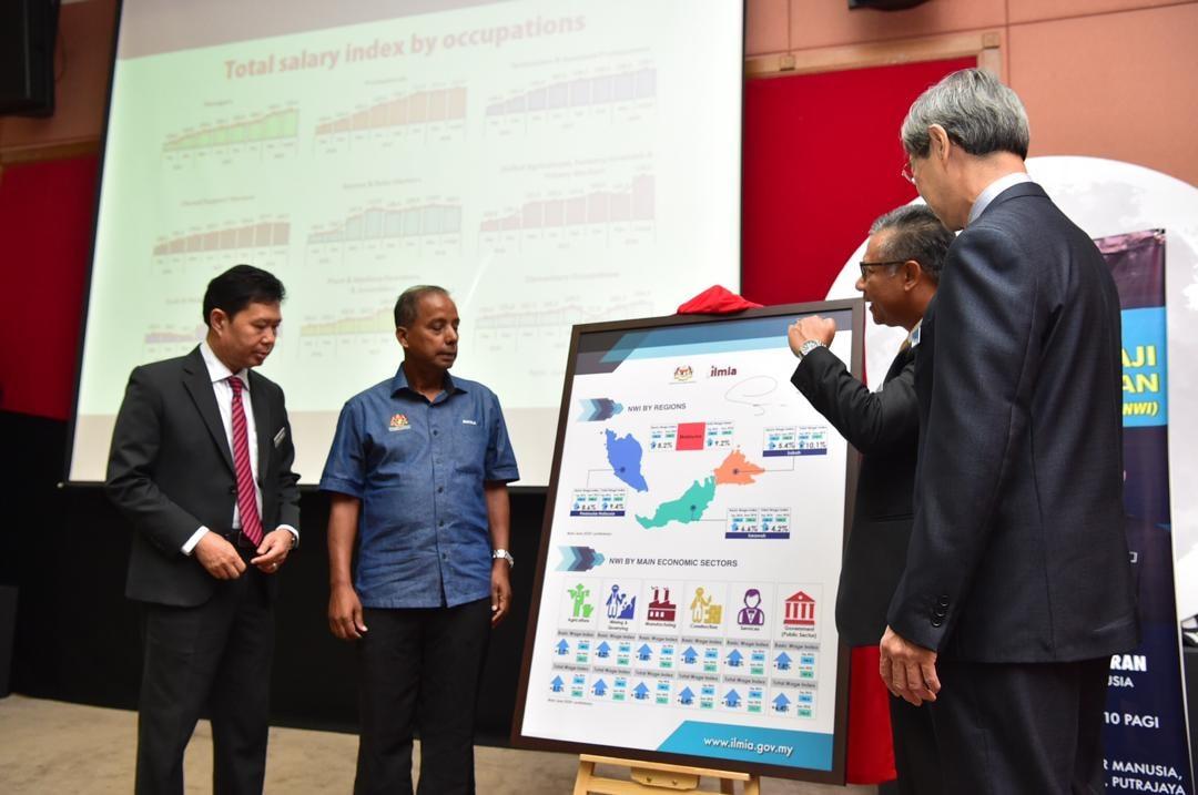 Pelancaran Indeks Gaji Kebangsaan (NWI) yang dirasmikan oleh YB M. Kula Segaran, Menteri Sumber Manusia